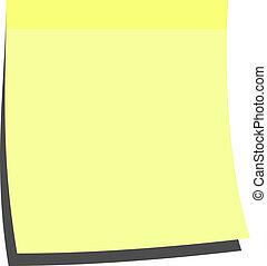 memorándum, palo, amarillo