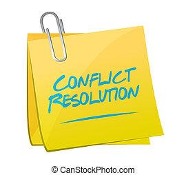 memorándum, responsabilidad, poste, ilustración, conflicto
