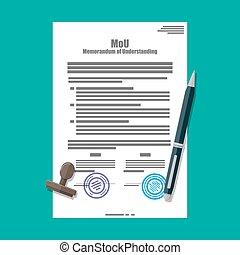 Memorandum of understanding document. Mou legal papers....