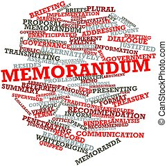 Memorandum - Abstract word cloud for Memorandum with related...