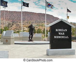 memori, grevskap, utah, järn, koreanska kriga