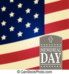 memoriał, poster., illustration., banner., flag., template., amerykanka, wektor, tło, patriotyczny, dzień, szczęśliwy