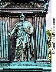 memorial, cavaleiro, c.c. washington, geral, círculo logan, john