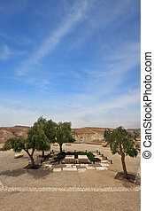 Kibbutz Sde Boker in the Negev desert - Memorial Cemetery of...