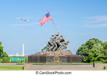 memorial, corpo, (iwo, guerra, marinho, jima, memorial)