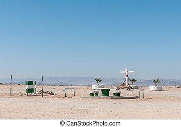 Memorial cross on the B2-road between Arandis and Usakos