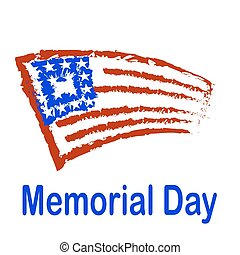 Memorial Day American Flag Background.