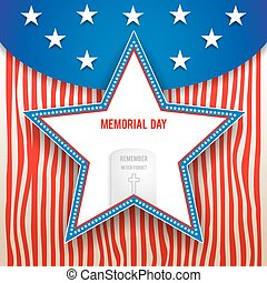 Memorial day background - Memorial day design on striped...
