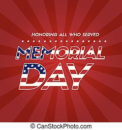 Memorial day background flag american
