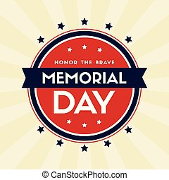 Memorial day background greeting card vector illustration