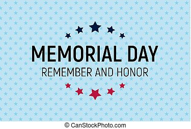 Memorial Day Background. Vector Illustration
