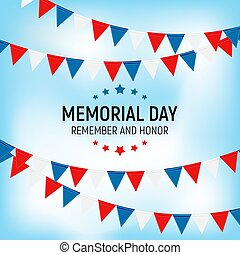 Memorial Day Background. Vector Illustration EPS10