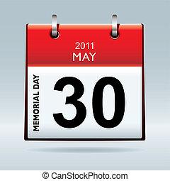 Memorial day calendar