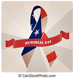Memorial day - Isolated peace symbol with the american flag...
