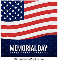 Memorial day - Colored background with stars, the american...