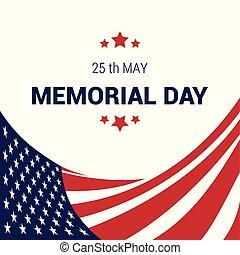 Memorial day design card vector