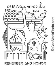 Memorial Day design concept