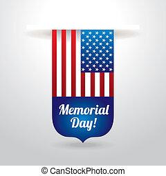 Memorial Day design over  background, vector illustration