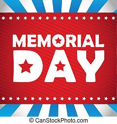 Memorial Day design, vector illustration