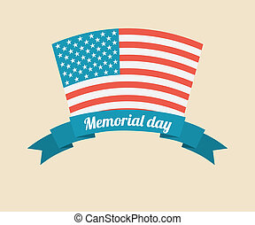 Memorial Day design over beige background, vector ...