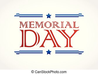 Memorial Day design vector background