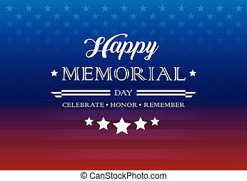 Memorial Day holiday greetings background lettering - ...