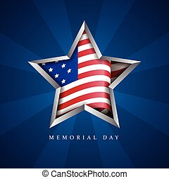 Memorial day illustration - American memorial day graphic...