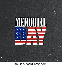 Memorial Day label on the blackboard background