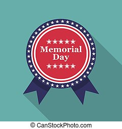 Memorial Day. Medal with stars and space for text
