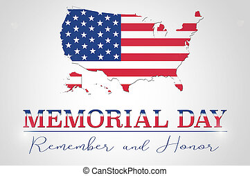 Memorial day - Memorial Day background with USA map and flag