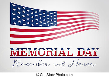 Memorial day - Memorial Day in the United States, background...