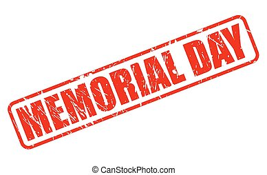 MEMORIAL DAY RED STAMP TEXT