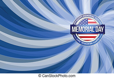 Memorial day red white and blue illustration design graphic ...