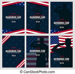 Memorial Day. Remember and Honor. USA. American Flag. - ...