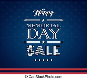Memorial Day Sale American background vector
