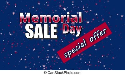 Memorial day sale - Banner on Memorial Day sale, special ...