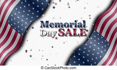 Memorial Day Sale - Banner on sale with special offers for ...