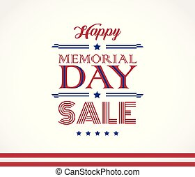 Memorial Day Sale beautiful vector background
