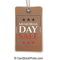 Memorial Day sale price tag.