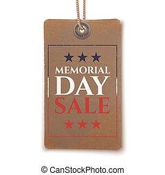 Memorial Day sale price tag.