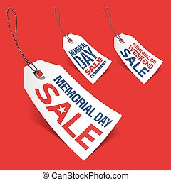 Memorial Day sale tags