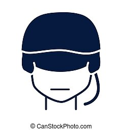 memorial day soldier with helmet character american celebration silhouette style icon