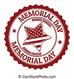 Memorial day stamp - Grunge rubber stamp with text Memorial...