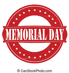 Memorial day - Stamp with text memorial day inside, vector...