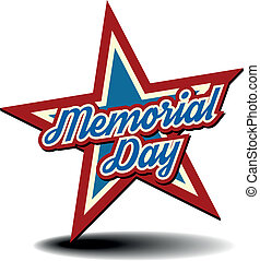 Memorial Day star - detailed illustration of a patriotic...