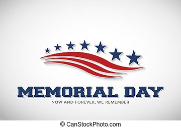 Memorial Day Stars and Stripes Vector Illustration
