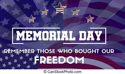 Memorial Day Theme Animation Background Collection