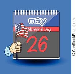 Memorial Day %u2013 USA Flag Calendar