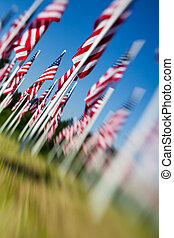 Memorial Day USA - American flags