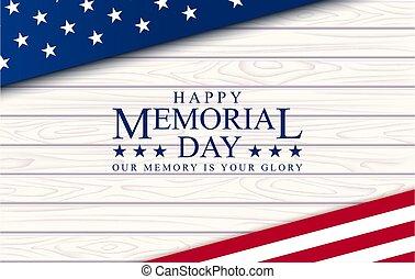Memorial day vector poster.